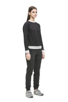Теплые брюки черного цвета