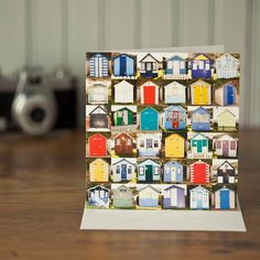 Collections Greeting Card Seaside Beach Huts