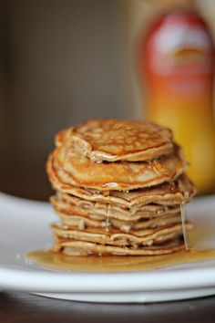 "peanut butter ""cake"" coconut flour pancakes, paleo if you use a different nut butter (such as almond or sunflower butter)"