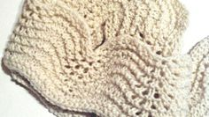Hand Spun White Wool Hand Knit Lacy Handmade Scarf   joysazplace - Accessories on ArtFire