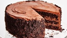 Three layers of rich, moist chocolate cake and two layers of creamy chocolate pudding. *Fans self*