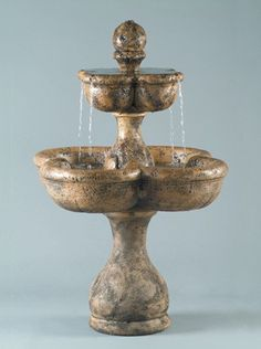 Inspired by the ancient culture of the tiny island nation, the Old Dominica Fountain features a flattop upper tier that flows easily into a shamrock shaped basin. Take your own mental vacation to the tropics with the addition of this shapely fountain.