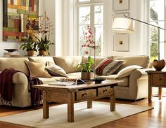#potterybarn living room idea #3