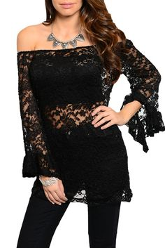 DHStyles Women's Black Sexy Cold Shoulder Floral Lace Ruffled Top - Small #sexytops #clubclothes #sexydresses #fashionablesexydress #sexyshirts #sexyclothes #cocktaildresses #clubwear #cheapsexydresses #clubdresses #cheaptops #partytops #partydress #haltertops #cocktaildresses #partydresses #minidress #nightclubclothes #hotfashion #juniorsclothing #cocktaildress #glamclothing #sexytop #womensclothes #clubbingclothes #juniorsclothes #juniorclothes #trendyclothing #minidresses #sexyclothing…