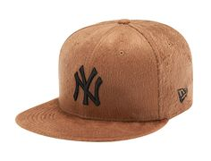 New York Yankees Suede Fur Brown 59Fifty Fitted Baseball Cap by NEW ERA x MLB