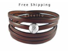 ENVÍO gratuito cinco envoltorios de pulsera pulsera de por Dstello