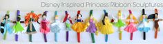 Disney Princess Inspired Ribbon Sculpture Patterns!