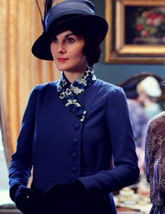 Michelle Dockery as Lady Mary in Downton Abbey (TV series, 2012).