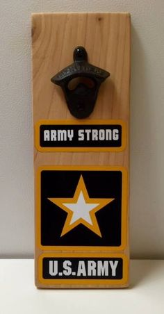 US Army Magnetic Bottle Openers - pinned by pin4etsy.com