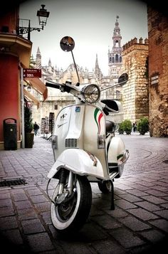 Like Vespa Scooters? I have Vespas and other designs screen printed on eco friendly towels, napkins, pillows, totes, etc. Visit my store at http://www.heapshandworks.etsy.com