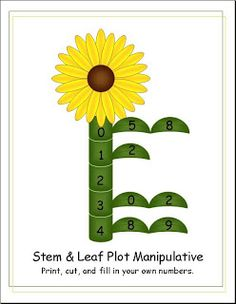 A Stem And Leaf Plot Printable Sixth Grade Math Fourth Science