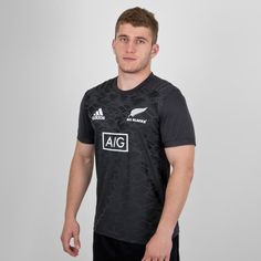 adidas Mens New Zealand All Blacks 2018 Supporters Lux Hooded Rugby Sweat Black