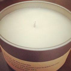 100% All Natural Soy Candle, hand crafted in Durham, NC