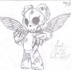 yin yang mask pencil drawings - Google Search Scary Halloween Drawings, Creepy Drawings, Fairy Drawings, Scary Teddy Bear, Badass Drawings, Awesome Drawings, Teddy Bear Drawing, Pencil Drawings Of Flowers, Evil Angel