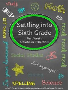 Settling into Sixth Grade: First Weeks' Activities and Ref