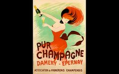 Pur Champagne Damery by #Cappiello - Beautiful #VintagePosters.
