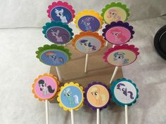 A personal favorite from my Etsy shop https://www.etsy.com/listing/263172317/just-12-my-little-pony-cupcake-toppers