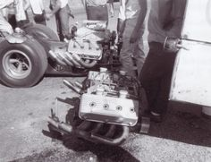 Eddie Hill installed a borrowed engine after a bad fire at Green Valley in 1966.