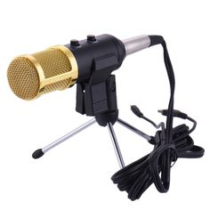 2016 USB Condenser Microphone Sound Recording Audio Processing Wired with Mount for Radio Braodcasting KTV Karaoke BM100
