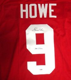 Gordie Howe Autographed Red Wings Red Jersey Mr. Hockey PSA DNA .  299.00. 46813a767