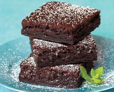 Healthy low calorie, cholesterol, fat and carb brownies.