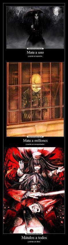 carteles anime criticas chorricartel metaforas hellsing rip van winkle max montana alucard redgame desmotivaciones