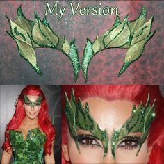 Kim Kardashian dressed as Poison Ivy when hosted the Midori Green Halloween Party at Lavo in New York City. (October 29, 2011)  This style leaves have been requested, so I made them. I think they came out significantly close to what she wore.