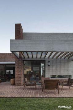 casa com fachada de concreto