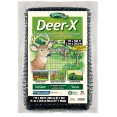 Deer-X 7 ft. x 100 ft. Dalen Products Black Polypropylene Protective Fencing-DX-7 - The Home Depot