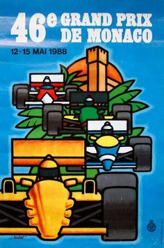 1988 Monaco Grand Prix poster