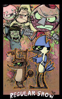 The Regular Show on Cartoon Network; too funny.