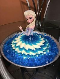 Gelatina d frozen para un cumpleaños Love it