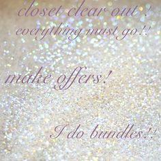 CLOSET CLEAR OUT!!! Shop shop shop! No brand Tops