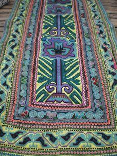 Hmong Embroided Folk Art Tribal Textile Panel. $22.00, via Etsy.
