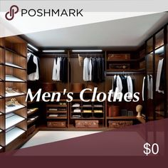 Men's Clothes Spend $20 in my closet and get any item $8 or less for free. For men: spend $30 in my closet and get another item 50% off! Shirts Dress Shirts