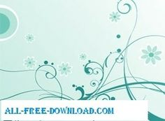 Free Swirls and Flowers Vectors