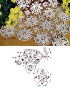 Crochet Patterns: Modelo del ganchillo libre de la reina Ana de encaje con motivos