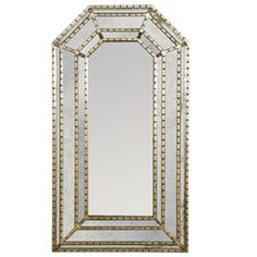 Worlds Away Murphey Rectangular Silver Leaf Mirror, available at #polkadotpeacock. #peacocklove #worldsaway