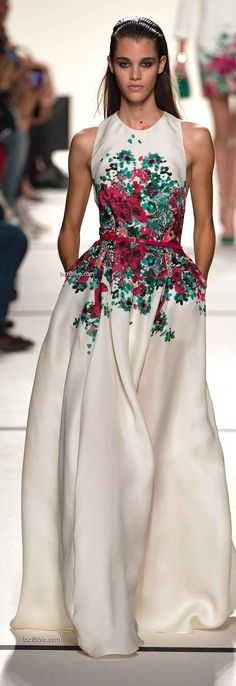 Elie Saab Spring 2014 Ready to Wear Paris Fashion Week. Glorious!