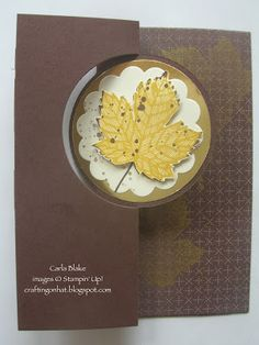 Crafting On Hat: Circle Thinlits Card Die with Magnificent Maple, Gorgeous Grunge, & Sweater Weather dsp