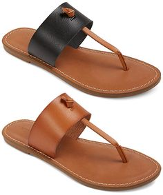 """Merona """"Malia"""" Thong Sandals: http://rstyle.me/n/cg8w2wn4be   in black and tan (Joie Nice A La Plage dupes)"""