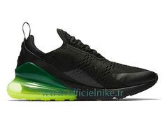 Men's Nike Air Max 270 Shoes Black/Green/Fluorescent Green UK Trainers Sale have a high quaity with memorable meaning.Nike Air Max 270 Mens awesome appearance well tells the spirit of sports and Isaac's love for sports. Air Max Sneakers, All Black Sneakers, Black Shoes, High Top Sneakers, Sneakers Nike, Basket Nike Air, Baskets Nike, Nike Basketball, Mens Nike Air