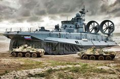 Russian Navy Hovercraft (model unknown)