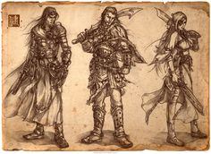 Detailed pencil concept art by character designer James Ng. Steampunk illustrations were commissioned for various projects. Character Concept, Concept Art, Character Design, Steampunk Illustration, Drawing Sketches, Drawings, Sketching, Steampunk Robots, Fantasy Warrior