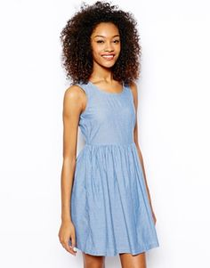 Vero Moda Chambray Skater Dress - makes a great neutral