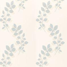 Melcombe Leaf Wallpaper Duck Egg | Laura Ashley USA
