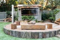 Cozy Outdoor Living Space Decor Ideas With Australian Style Rustic Outdoor Bar, Rustic Patio, Outdoor Decor, Backyard Projects, Backyard Patio, Backyard Ideas, Modern Backyard, Patio Ideas, Garden Ideas