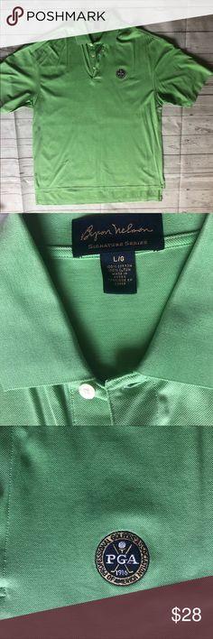 165e48fb8 Byron Nelson Signature series PGA Embroidery Large Byron Nelson Signature  series PGA Embroidery green polo size