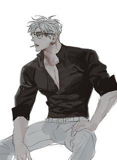 Handsome Anime Guys, Hot Anime Guys, Fanarts Anime, Anime Characters, Character Drawing, Character Design, Manga Art, Anime Art, Anime Poses Reference