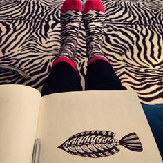 View from the sofa. #feet and #fish and #camourflage @illustrator_eye